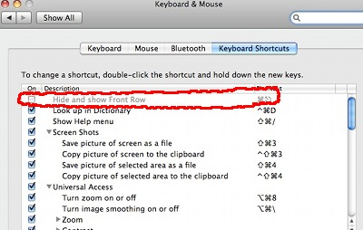 disable front row shortcut mac, disable front row, disable front row mac