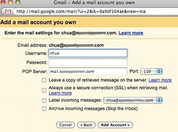 setup gmail receive other email, gmail receive other email