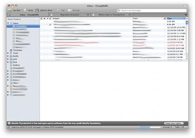 thunderbird 3 email client, thunderbird 3, mozilla thunderbird