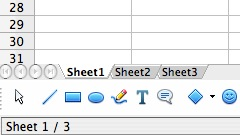 openoffice calc worksheet tab missing