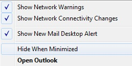 minimize outlook system tray