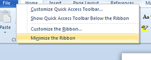 disable autohide ribbon word 2010, autohide ribbon word 2010