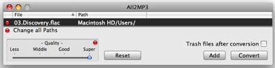 convert flac to mp3, flac to mp3