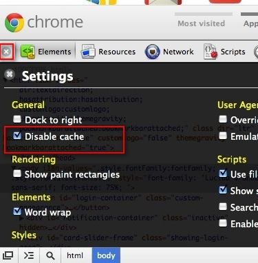 disable cache chrome, chrome disable cache