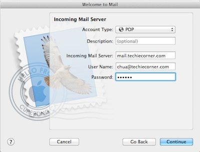 setup email apple mail
