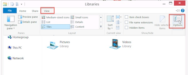 win 8.1 enable libraries