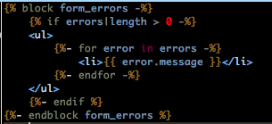 symfony2 customize form error